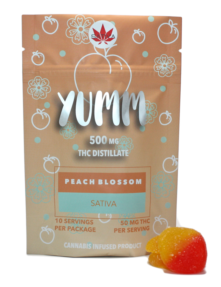 Yumm - PEACH BLOSSOM 500MG - Sativa or Indica